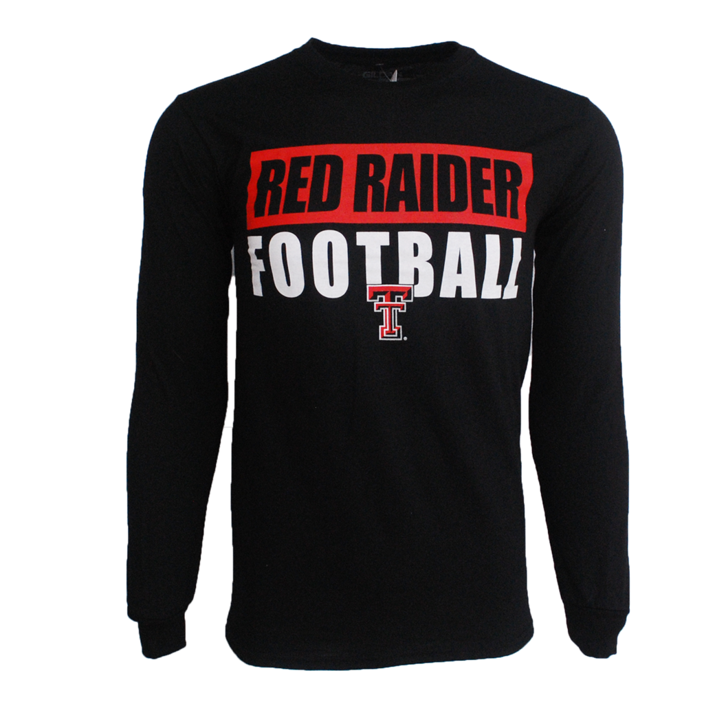 Bold Bar Red Raider Football Youth LST
