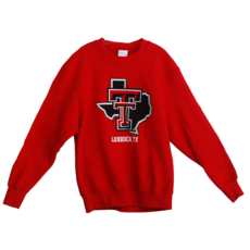 Lubbock Lonestar Youth Crew Sweatshirt