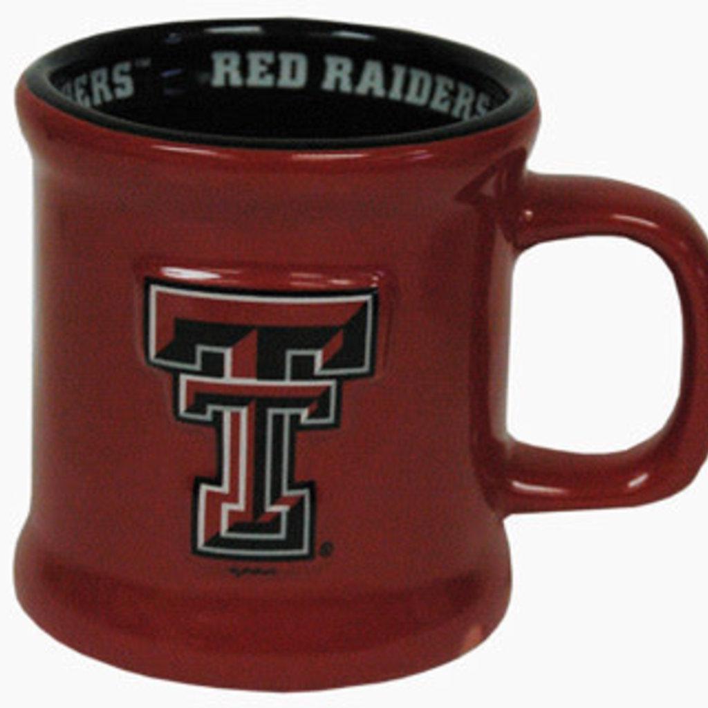 Ceramic Red Raider Rim Red & Black Coffee Mug