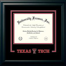 Satin Black Logo Name Diploma Frame - $209.95
