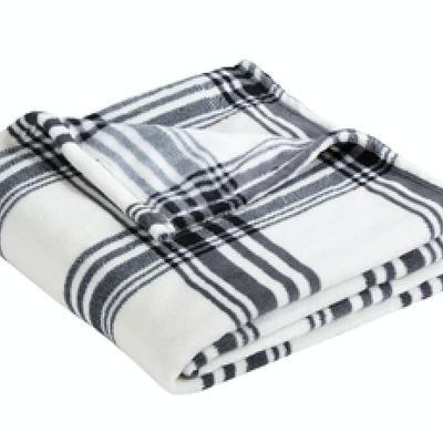 White With Black Stripes Blanket