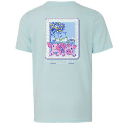 Cute Little Pigs Youth Short Sleeve Tee