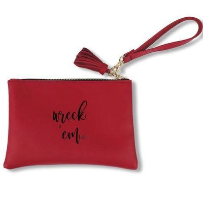 Jen Wreck Em Faux Leather Wristlet