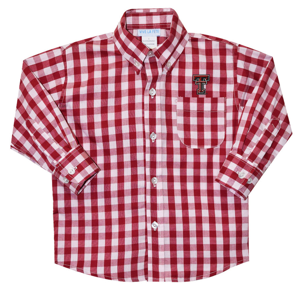 Big Check Button Down Toddler Shirt