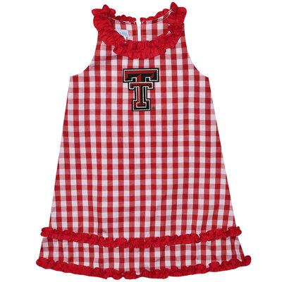 Big Check Infant Ruffle Dress