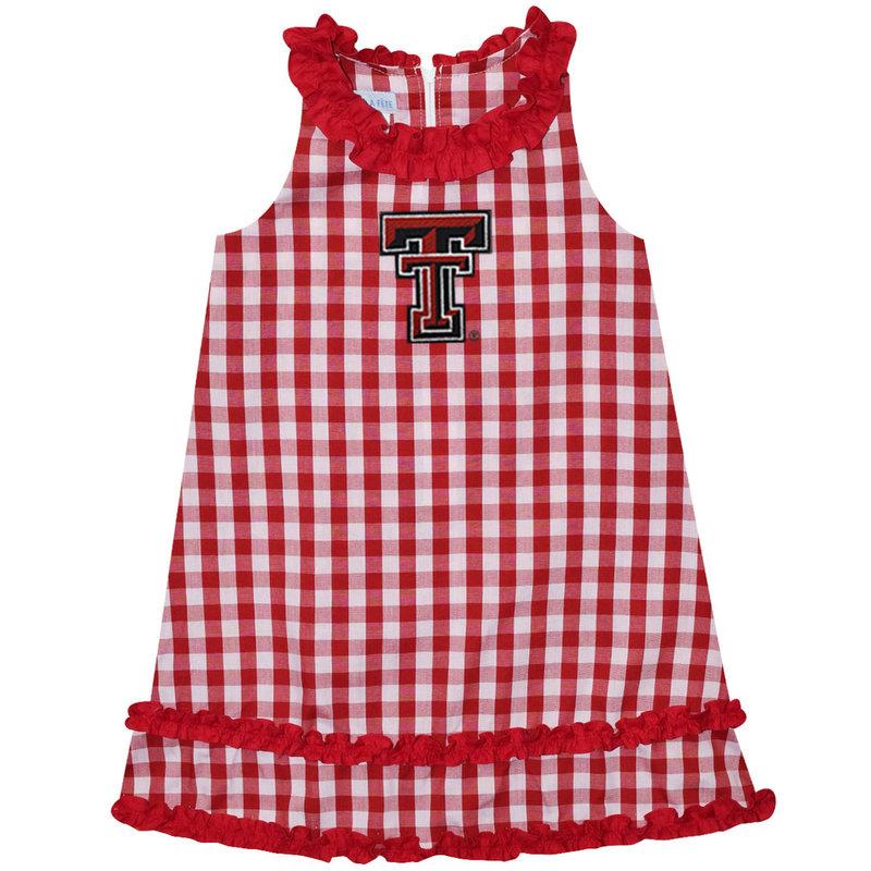 Big Check Infant Ruffle Dress
