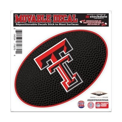 """Patterned Oval Double T Movable Decal 6""""x6"""""""