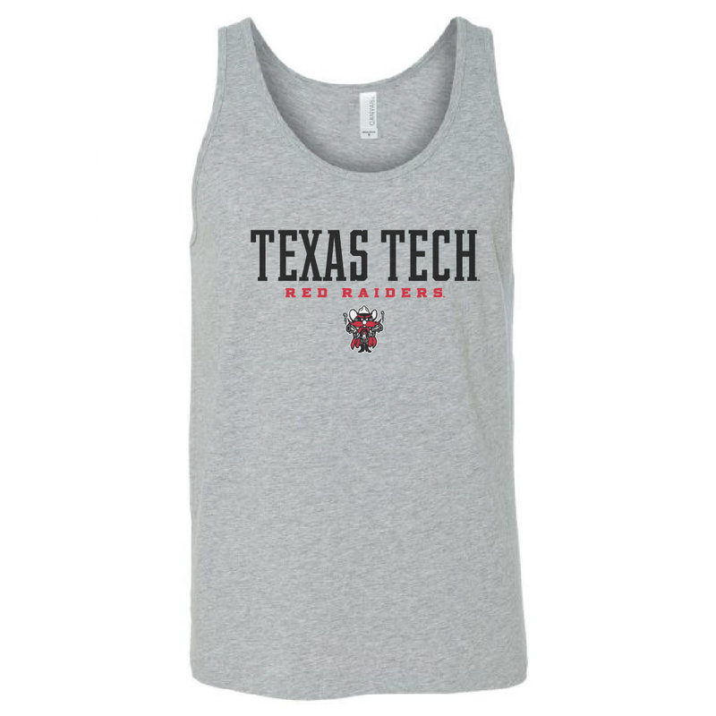 Texas Tech Stacked Raider Red Tank Top