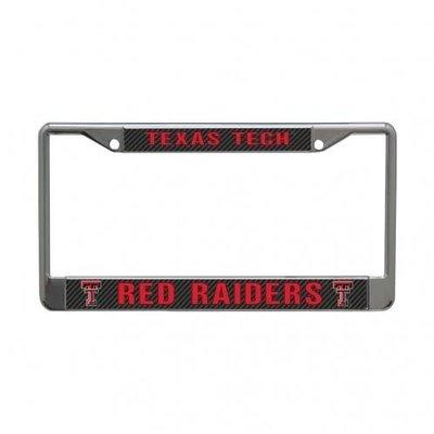 Patterned TTRR Metal License Plate Frame