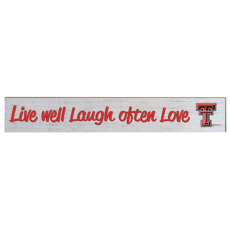 Weathered Wood Sign Live Well Laugh 3x20