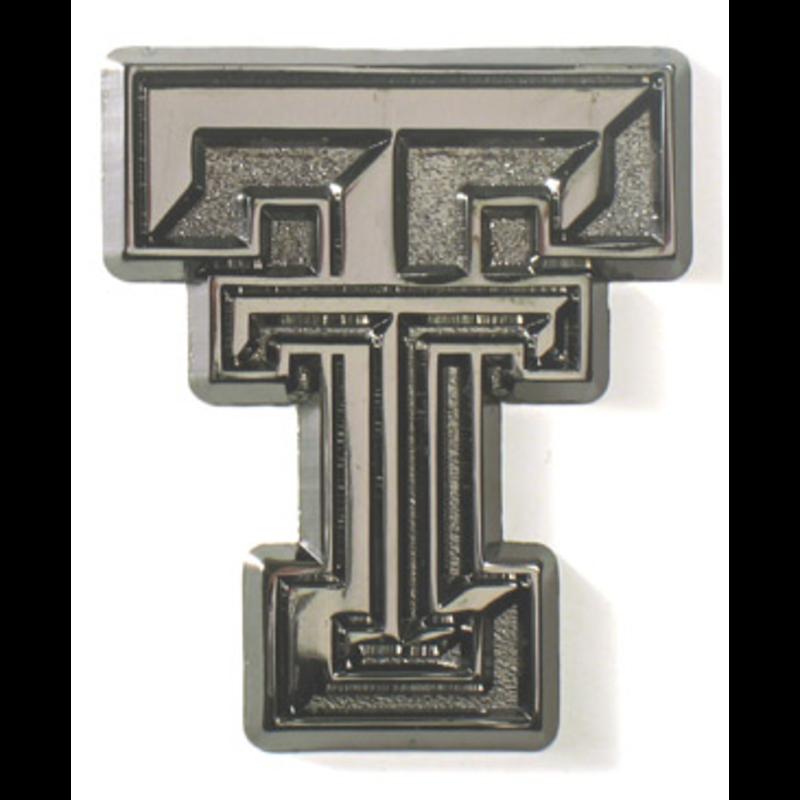 Auto Emblem Black Chrome Double T
