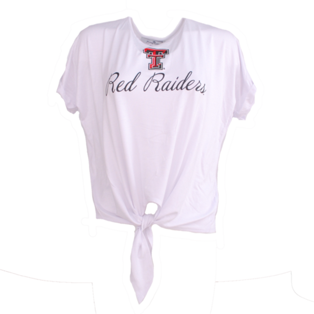 Tia Dolman Sleeve Tie Front Ladies Tee