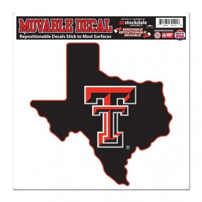 "State of Texas Double T Movable Decal 8""x8"""