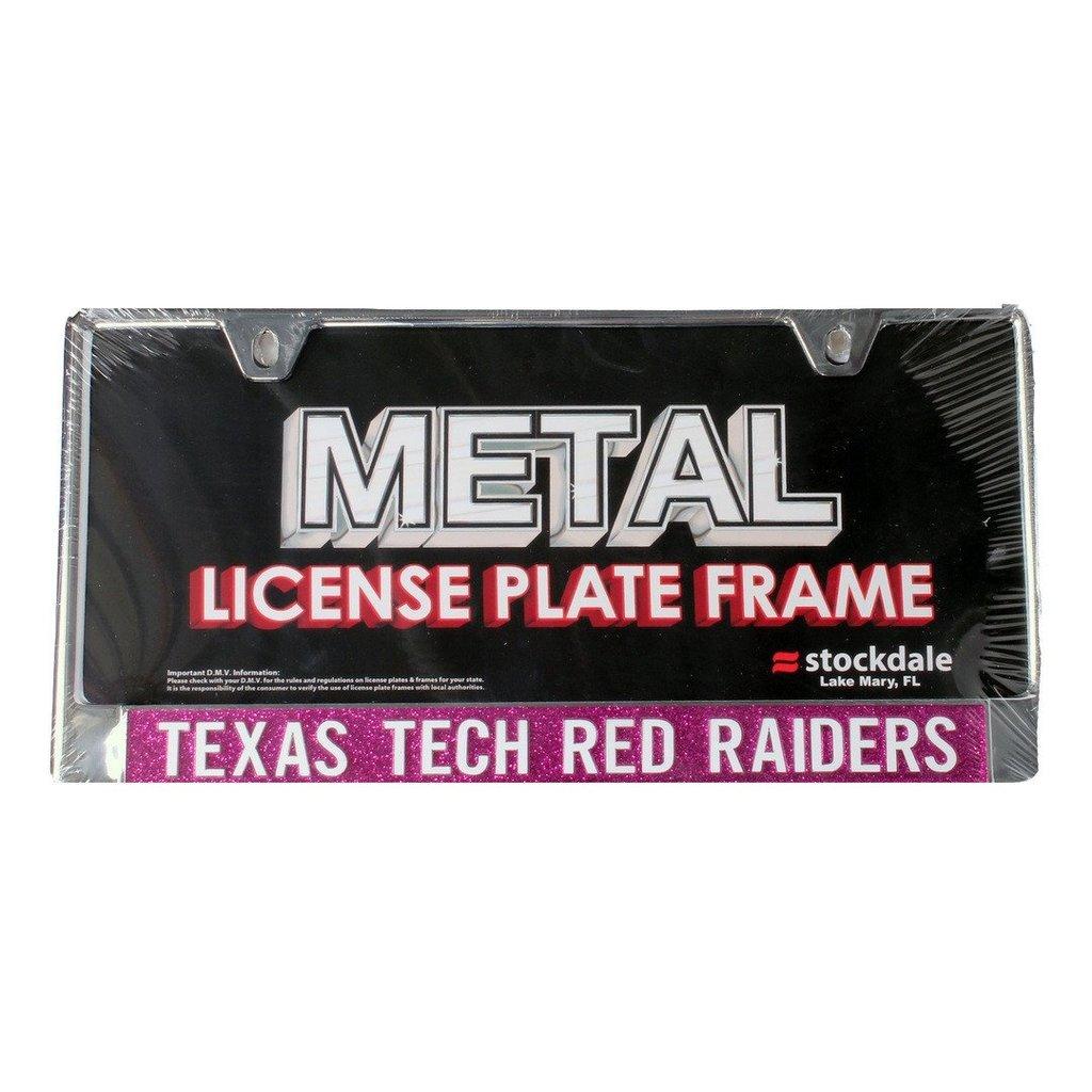 Pink Lettered License Plate