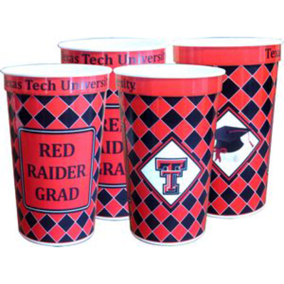 Plastic Grad Cups 22 oz - 4 Pack