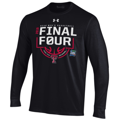 Final Four Double T Logo Below Basketball Long Sleeve