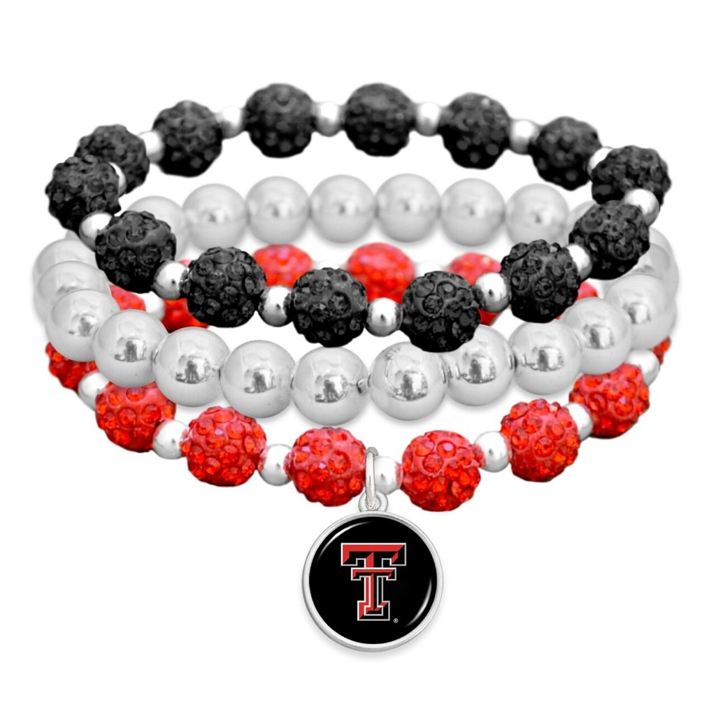 Red, Black, Silver Bling Bracelet