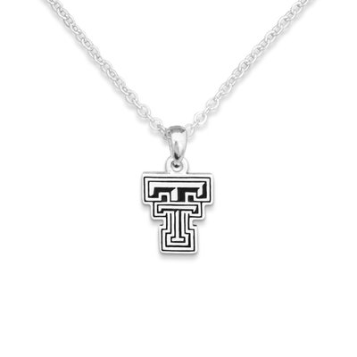 Double T Silver Logo Necklace