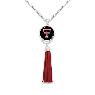 Long Tassle Domed Double T Necklace