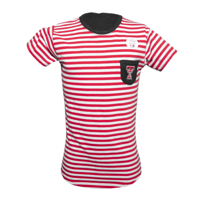 Girls Stripe Pocket Tee - Youth