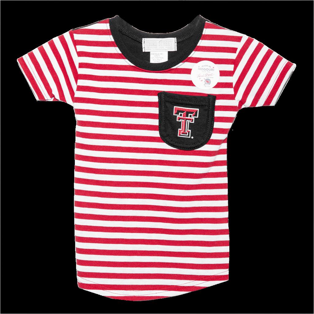 Girls Stripe Pocket Tee - Toddler