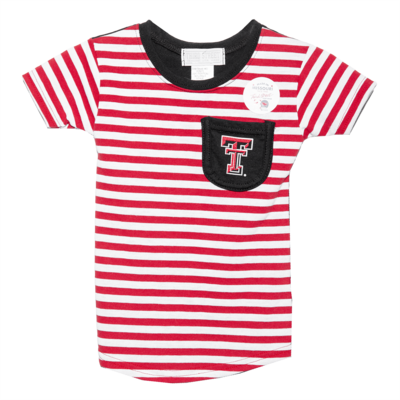 Girls Stripe Pocket Tee - Toddler