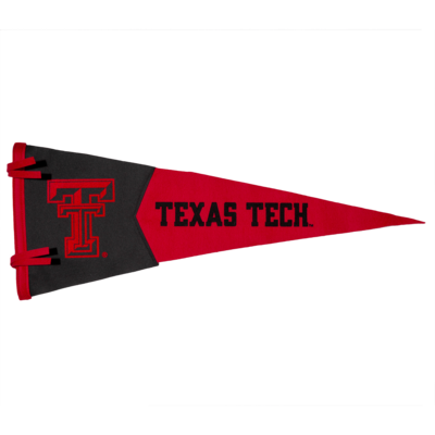 "Two Piece Black/Red Felt Pennant 12"" x 30"""