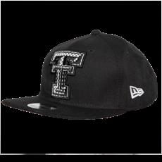 New Era Jr Mesh Flatbill Snapback Cap - Black