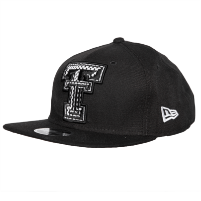 New Era Jr Mesh Flatbill Snapback Cap - Black