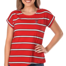 Asymmetrical Striped Ladies Top