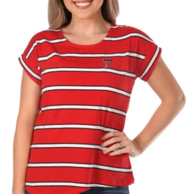 Asymmetrical Striped Ladies Top