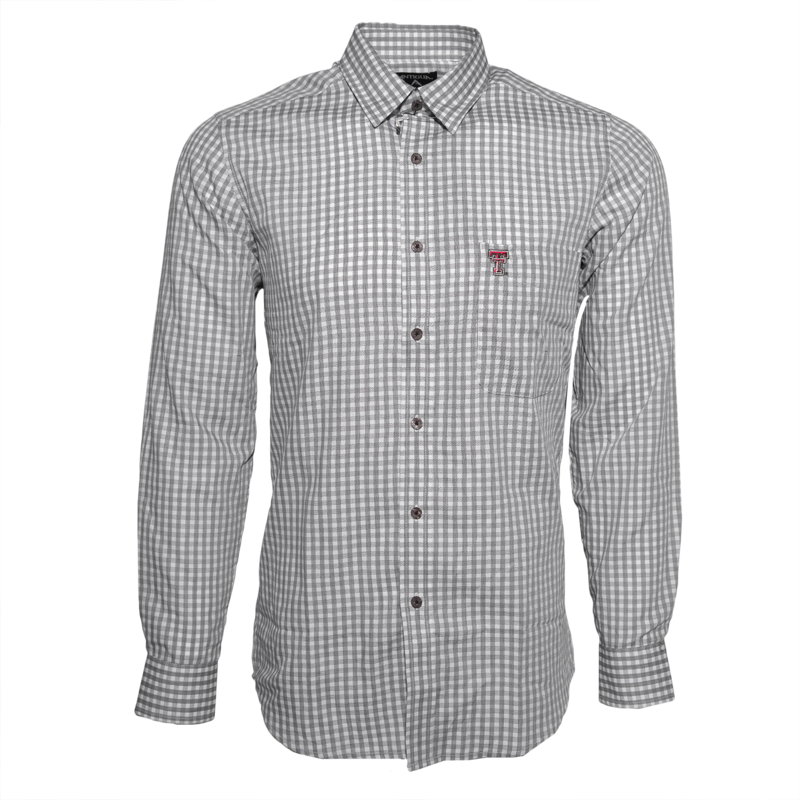 Antigua Structure Pattern Long Sleeve Button Down