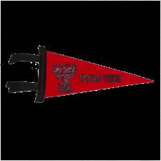 Black/Red Two Tone Felt Pennant 4 x 9