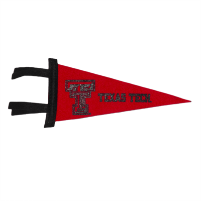 Black/Red Two Tone Felt Pennant 4 x 9