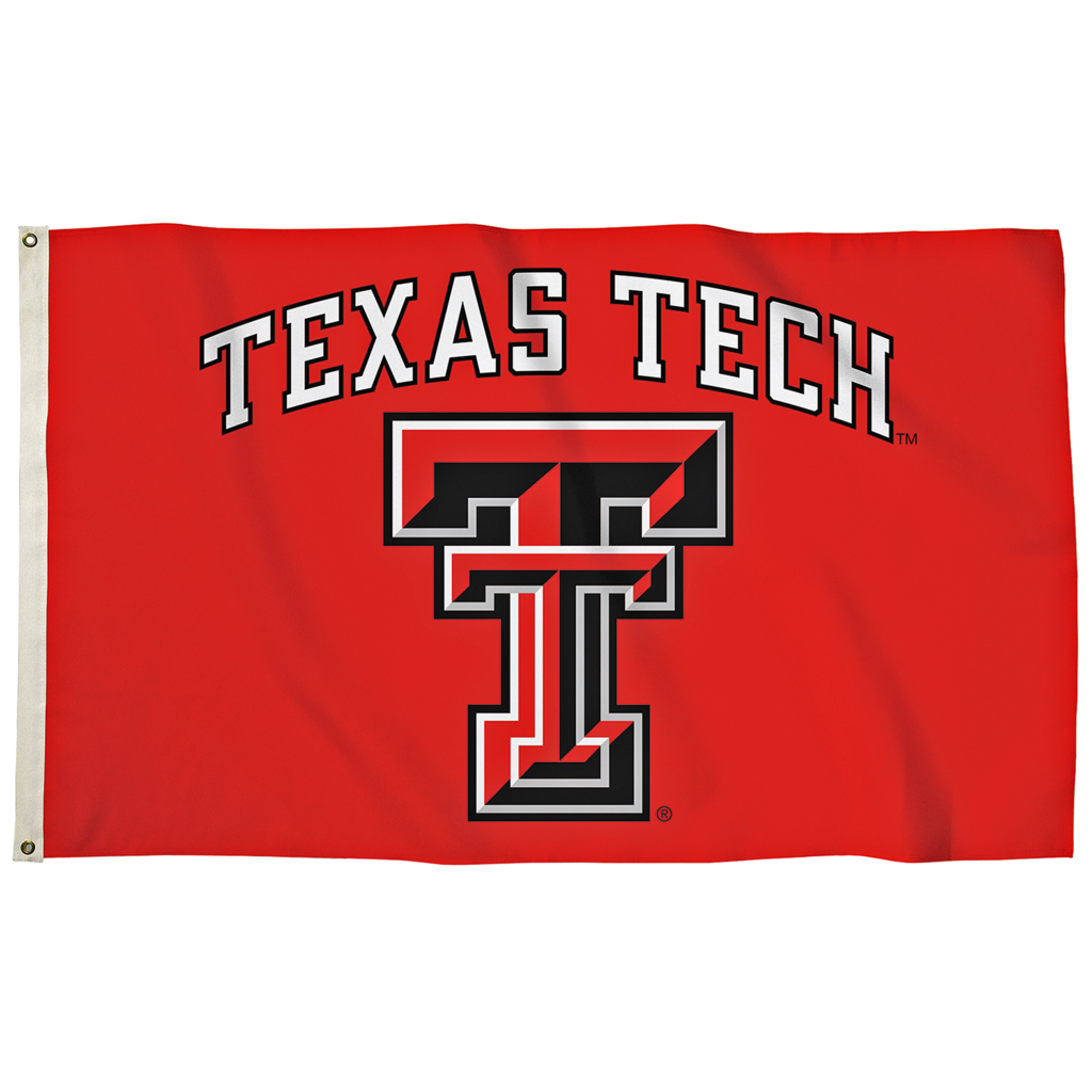 3x5 Flag Texas Tech Arch Double T Red