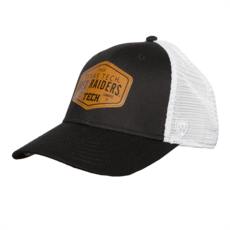 Top of the World Edge Leather Patch Trucker Mesh Cap