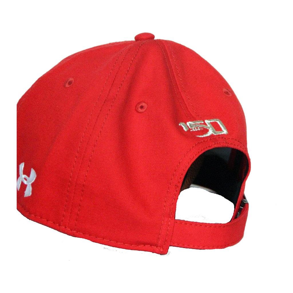 Under Armour 150 Garment Washed Raider Red Cap