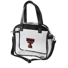 Capri Clear Tote with Red/Black Strap