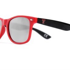 Texas Tech Sunglasses - Black & Red Frame w/ Black Lenses