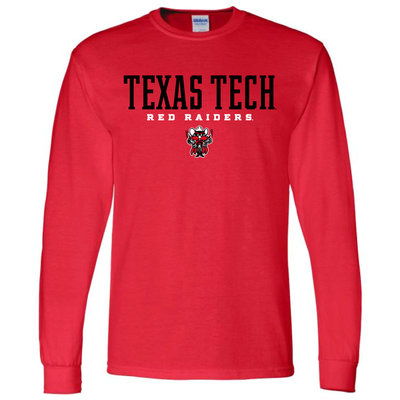 Stacked Raider Red Long Sleeve Tee