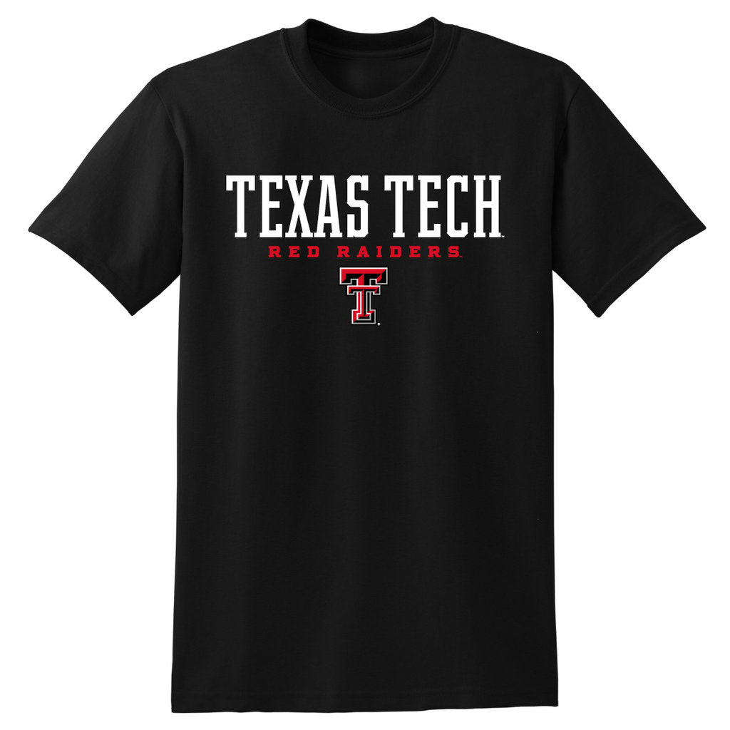 Texas Tech Stacked Double T Short Sleeve Tee