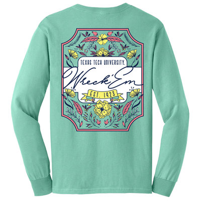 Floral Label Long Sleeve Tee