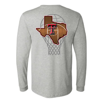 Basketball Wood Court Long Sleeve Tee
