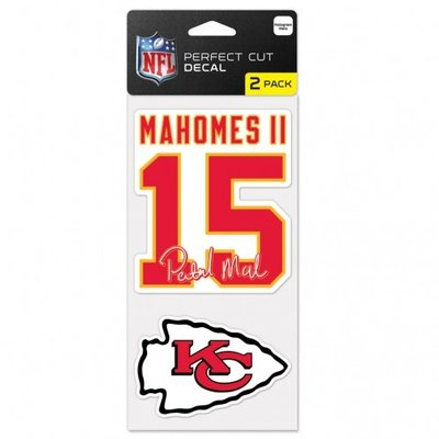 Mahomes KC 2 Pack Decal Set