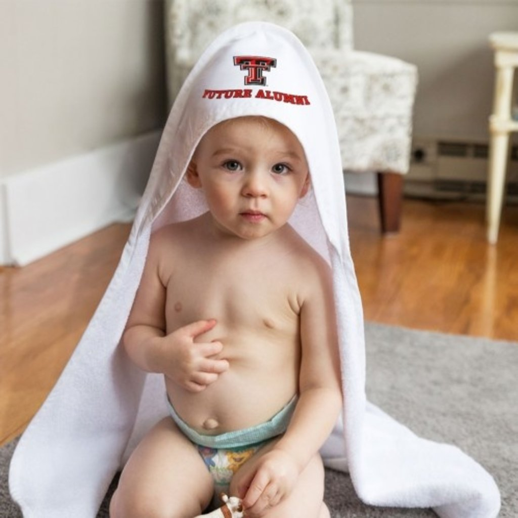 Hooded Baby Towel White
