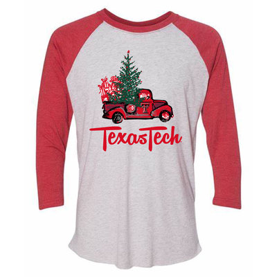 Christmas Truck 3/4 Raglan Tee