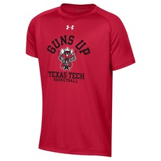 Under Armour Guns Up Raider Red Youth Basketball Short Sleeve Tee
