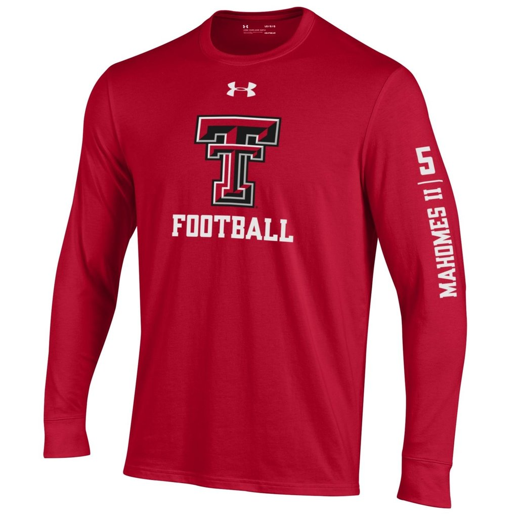 Under Armour Boy's Performance Cotton Mahomes FB Long Sleeve Tee