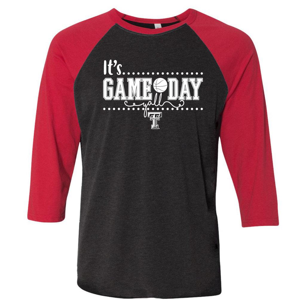 It's Game Day Ya'll Basketball 3/4 Sleeve Tee