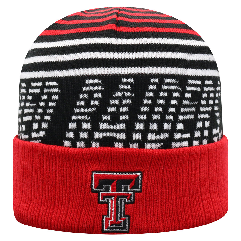 Array Cuffed Knit Beanie with Woven Logo